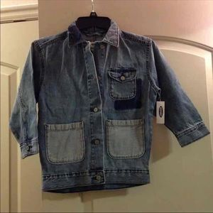 🦖*3 for $12* New Old Navy 6/7 Girl's Jean Jacket